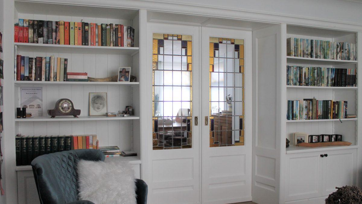 Ensuite glas-in-lood deuren